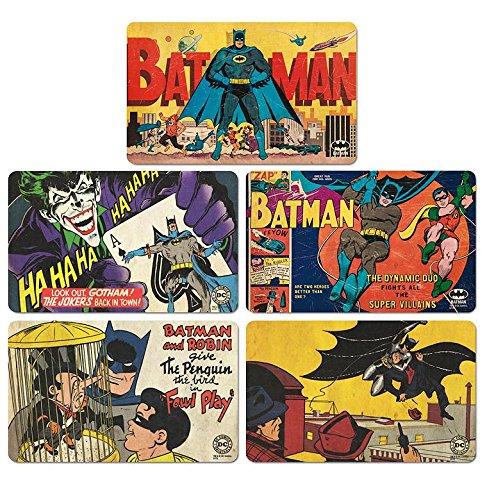 Logoshirt Ensemble de Planches à Petit-déjeuner Batman - Ensemble de 5 Planches à découper DC Comics - Design Original sous Licence