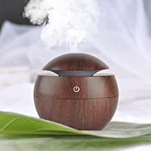 SHOPPOSTREET Mini Portable Wood Aromatherapy Humidifier Office Desktop Home Travel Water Spray Mist Humidifier