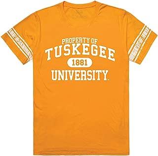Tuskegee Golden University Tigers NCAA Mens Property Football Tee t Shirt
