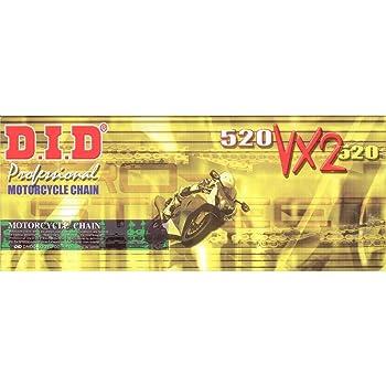 Did Kette 525 Vx 112 Glieder X Ring Gold Offen Mit Nietschloss Auto