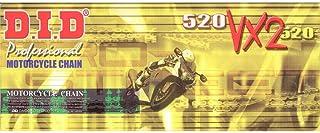 DID Kette 520 VX2 X Ring doppelt verstärkt gold 116 Glieder offen Clipschloss