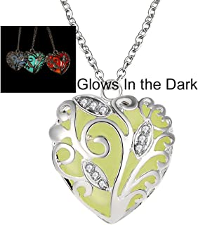 Glow in The Dark Hearts Necklace
