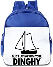 WLF Girl's and Boy's Children Kid's Backpack Pre School Bags Package Comfortable Quit Playing with Your Dinghy Bags Pink