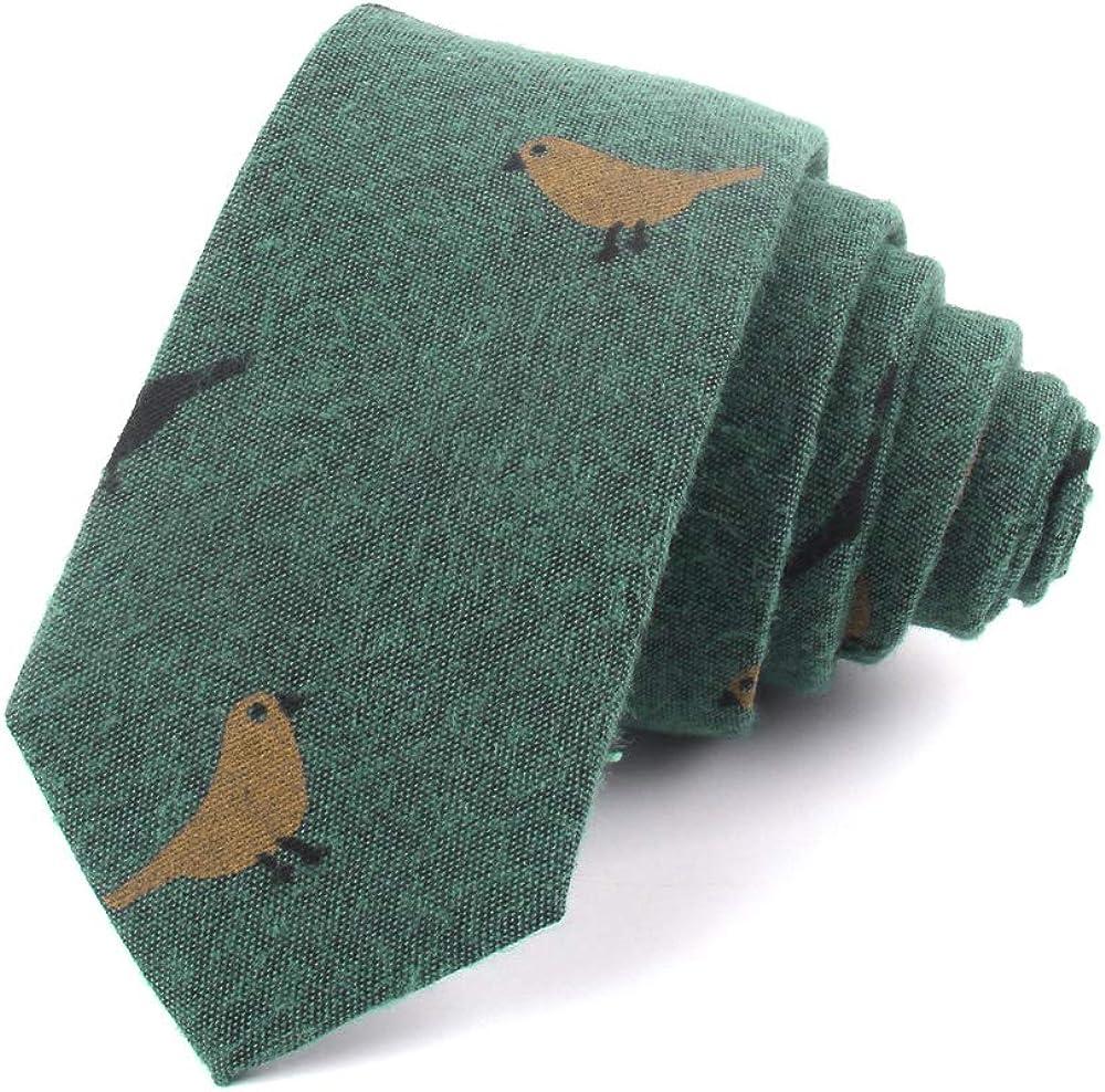 Gemay G.M Ties for Men Cotton Narrow Tie Skinny Neckties for Men Party Wedding Tie Groomsmen Neck Ties