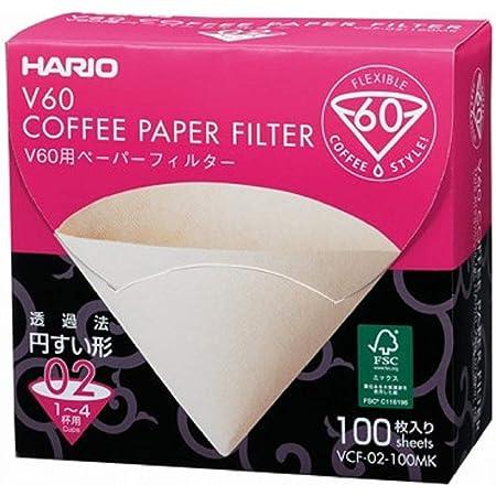 HARIO(ハリオ) V60用ペーパーフィルター みさらし 1-4杯用 日本製 VCF-02-100MK