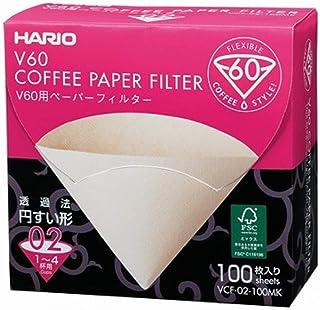 Hario VCF-02-100MK 1 st låda med pappersfilter för 02 droppar Misarashi