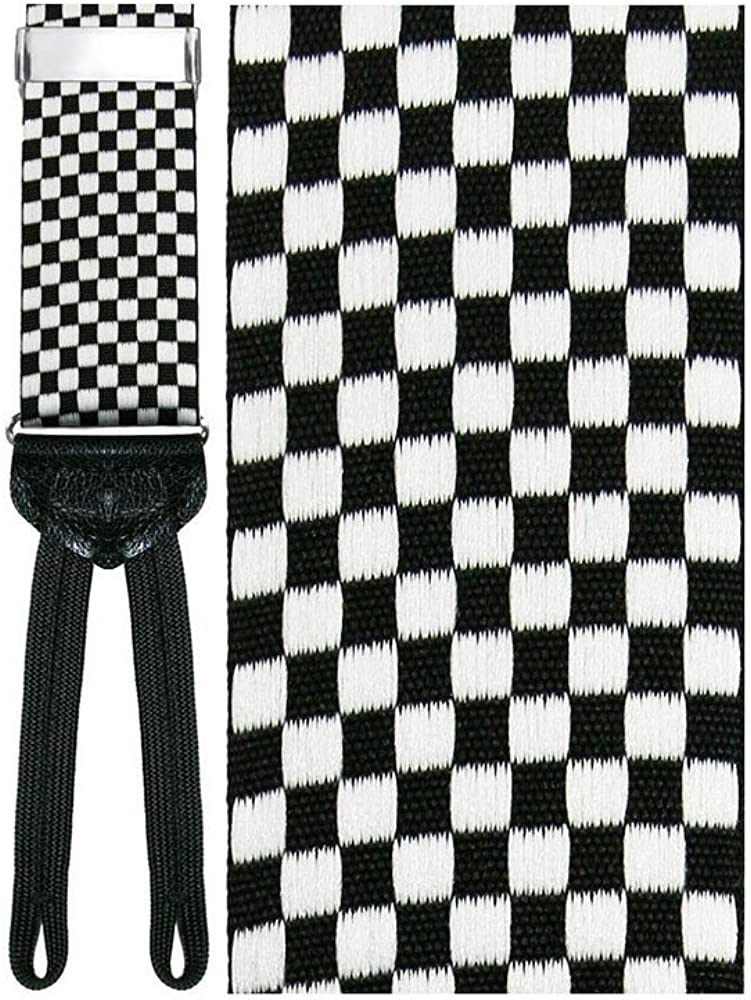Bergamo Black Checkered Suspenders
