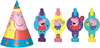 Peppa Pig 8 Party Hats and 8 Blowouts Bundle Birthday Party Pack