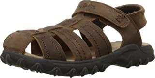 Stride Rite Hudsen Boys Leather Sandals - Brown