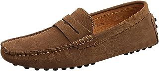 Jamron Hommes Daim Penny Loafers Confort Chaussures de Conduite Mocassin Slippers