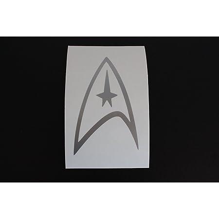 Aufkleber Autoaufkleber Sticker Decal Silber Star Trek Federation Logo Vinyl Decal Silver Window Sticker Auto
