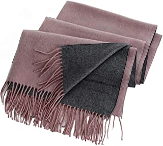 Scarf female double-sided imitation cashmere dual-use solid color long student autumn and winter warm shawl cold 200 * 65CM