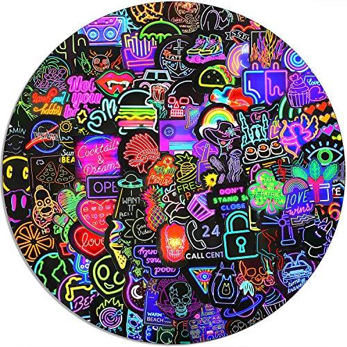 100 neon Waterproof Stickers, Laptop Stickers, Vinyl Stickers, flasks, Kettles, Skateboard Stickers, Adults, Teenagers, Children's Stickers, Aesthetic Stickers Packs
