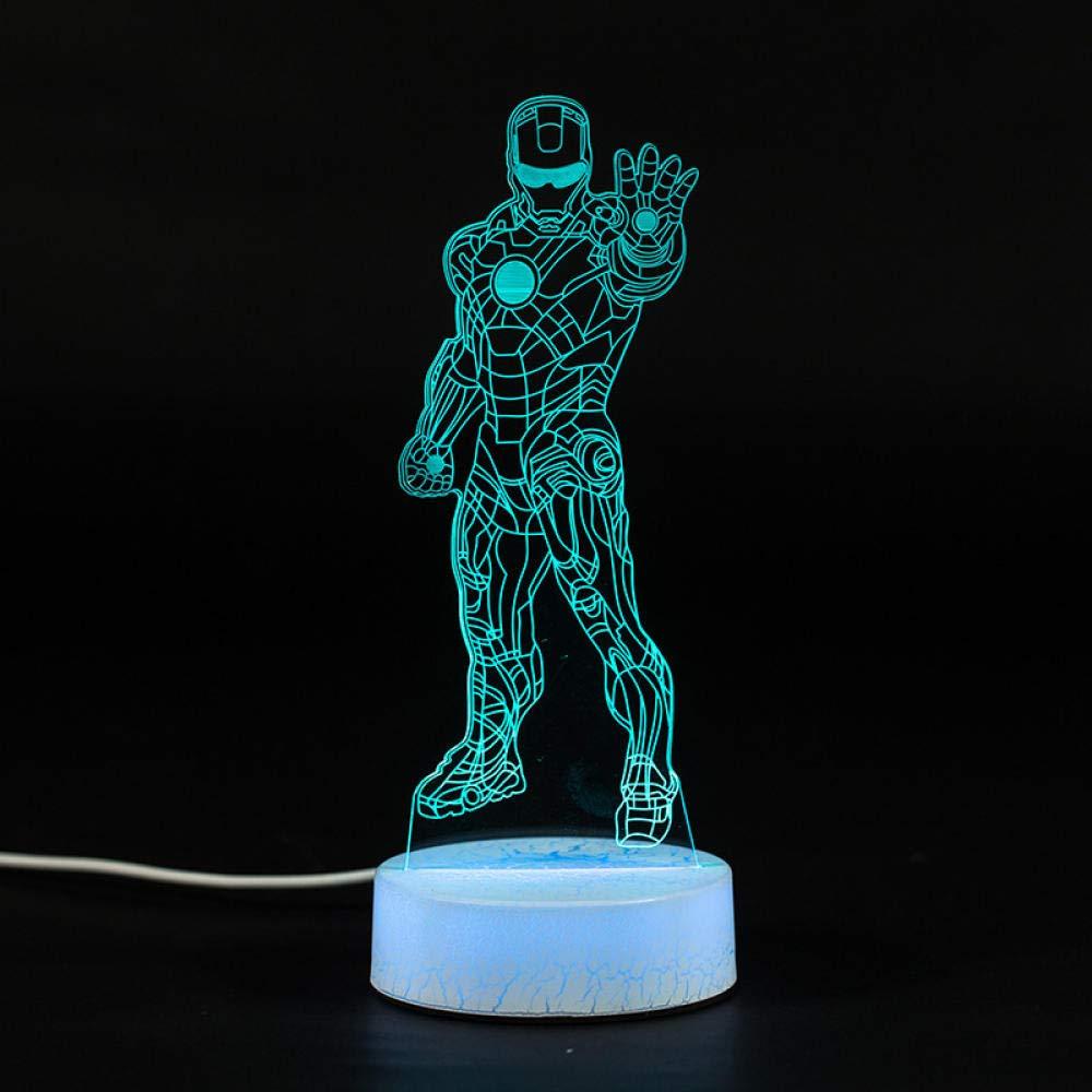 3D luz de Noche,La luz de la Noche del Robot Colorido 3D, acrílico ...