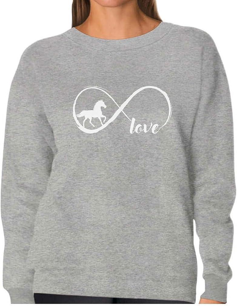 Tstars - Gift For Horse Lover Infinite Love Women Sweatshirt