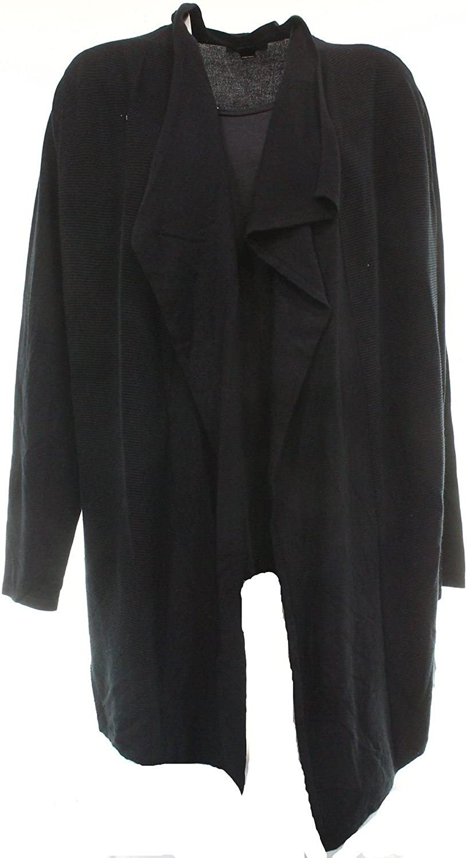 Alfani Long-Sleeve Shawl-Collar Cardigan (Black, Medium)