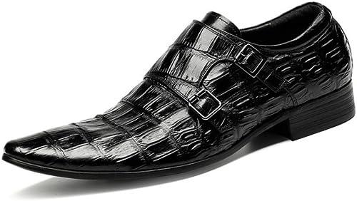 LYZGF zapatos De Cuero De La Boda De La Juventud del Cordón De Cuero De La Moda Informal De Los hombres De Gentleman