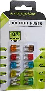 KOLACEN Supporto per fusibili 16 AWG in linea per autoveicoli per autoveicoli per fusibili standard standard a lama 3 pezzi 6 pezzi Fusibile per lama standard 10Apm