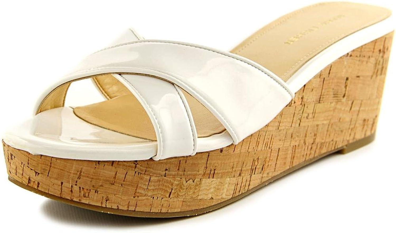 Marc Fisher Cilla 2 Women US 8.5 White Wedge Sandal