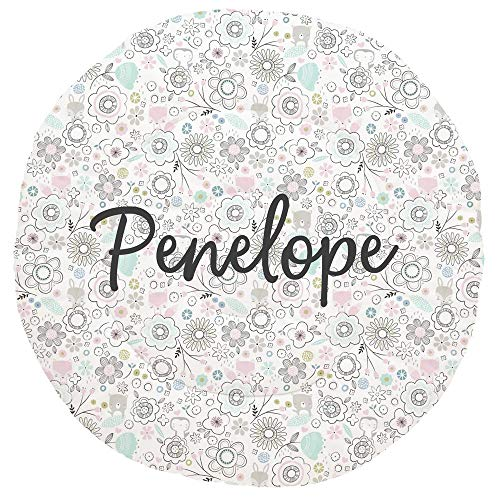 Best Price Carousel Designs Personalized Custom Pink Spring Doodles Baby Play Mat Penelope Idea - Or...