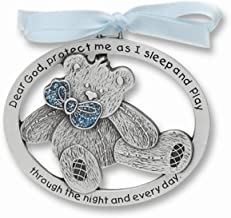 ICE CARATS Blue Epoxy Teddy Bear Crib Medal Pendant Charm Necklace Religious Baptism/Christening/Communion Fashion Jewelry Gifts for Women for Her