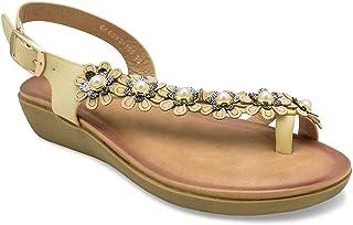 tresmode Women's 186-Floral Fashion Sandals