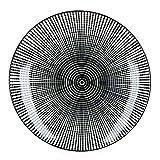 MamboCat Taipei 18-TLG. Teller-Set I Steingut-Geschirr für 6 Personen - modernes schwarz-weiß-Design I je 6X Flache Speiseteller - Tiefe Suppenteller - kleine Kuchenteller I Teller-Service 18 Teile - 5