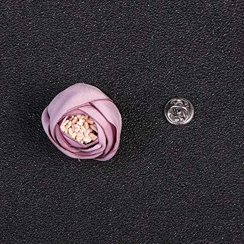 XZFCBH Mode Stof Bloem Broche Naald Revers Pin Doek Kunst Leuke Pins Broches Corsage Sjaal Gesp Vrouwen Accessoires