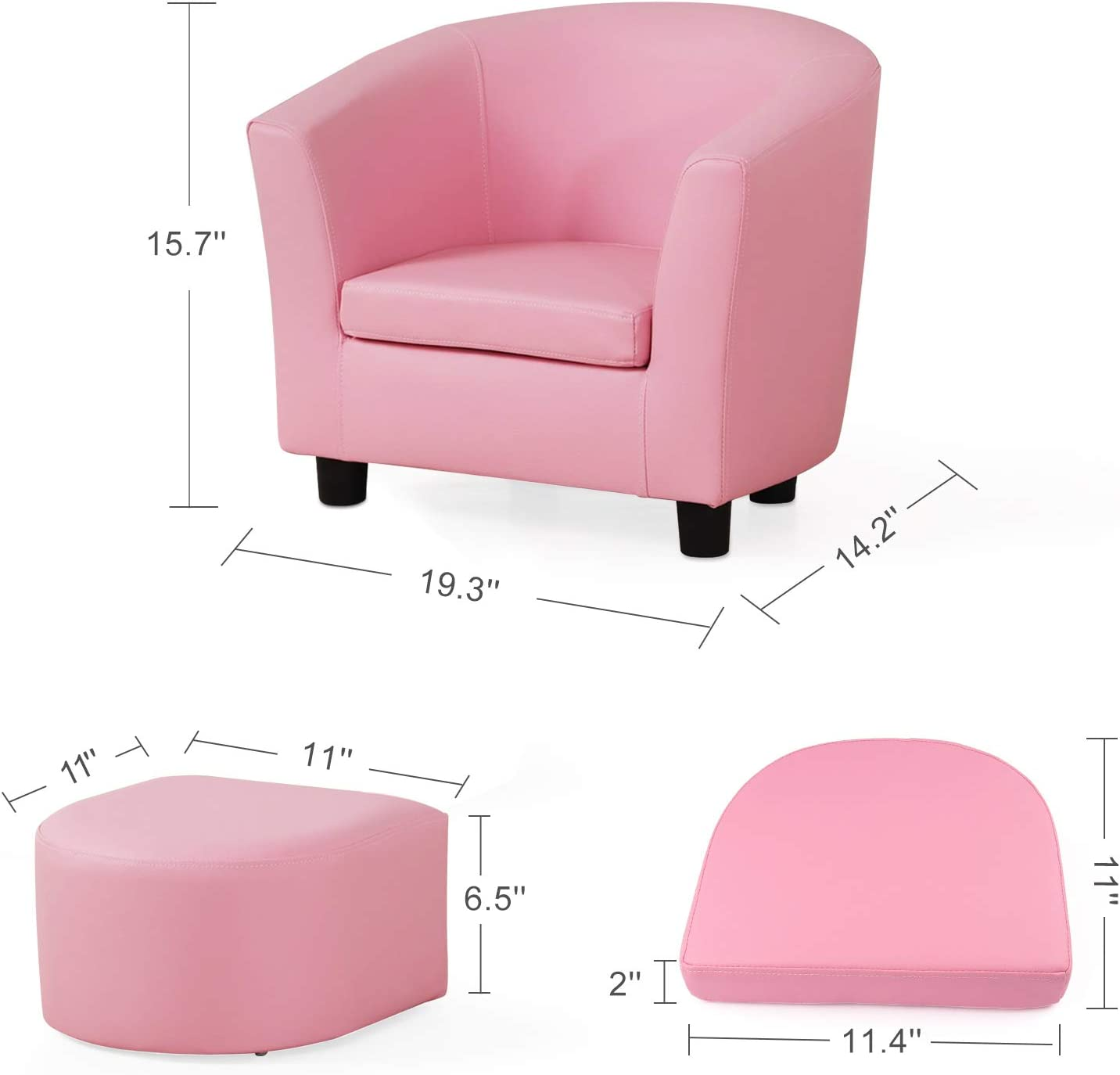 Kids Couch Fold Out Homasen 2 in 1 Kids Sofa Couch Bed Flip Open Sofa for Kids Girls Boys Bedroom Classroom Playroom