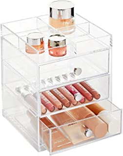 mDesign Rangement Maquillage – Coffret Maquillage Pratique pour la Salle de Bain ou la Chambre à Coucher – Box beauté avec...