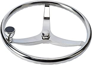 Amarine Made Stainless Steel Boat Steering Wheel 3 Spoke 13-1/2