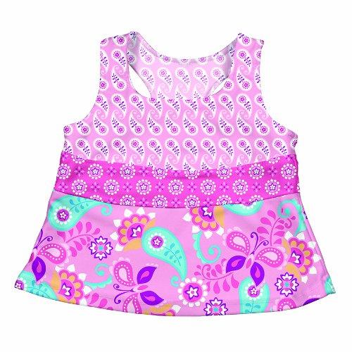 Iplay Baby Badeanzug/Tankini mit UV-Schutz 50+ Light Pink Paisley, 3T/3 Jahre