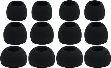 12 Black Silicon Replacement Earbuds Compatible with Sony Earphones Cx1 Ex34sc Ex35b Ex36v Ex52 Ex55 Ex56lp Ex71 Ex75 Ex76 Ex81 Ex85 Ex90 Ex300 Ex500lp Ex700lp Ex51 Ex700 Nc11 Nc22 Nc32 Xb40ex Xb20ex