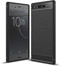 NALIA Silicone Case Compatible with Sony Xperia XZ1, Ultra-Thin Protective Phone Cover Rubber-Case Gel Soft Skin, Shockproof Slim Back Bumper Protector Back-Case Smartphone Shell - Black