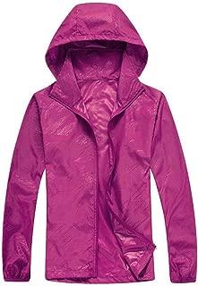 JJHAEVDY Men's Womens Cycling Jacket Windproof UV Protection Hooded Skin Coat Outdoor Waterproof Windbreaker Rain Coat