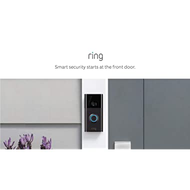 Ring Video Doorbell (1st Gen) – HD video, motion activated alerts, easy installation – Venetian Bronze