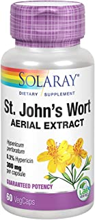 Solaray St Johns Wort Aerial Extract 300 mg, Once Daily | Mood & Brain Health Support | 0.3% Hypericin | 60ct