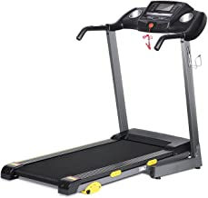 17'' Wide Folding Treadmill-Electric Motorized Running Machine with 3 Incline & LCD Display Cup Holder 10 Min Assembly, 15...
