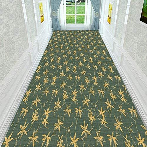 Bambus-Blätter Blumen Flur Teppich-Läufer weiche rutschsichere feuchtigkeitsfest Flur/Küche/Schlafzimmer/Treppe leicht zu reinigen Größe: 80x400cm Hall Rugs (Size : 80x600cm)