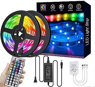 LED Strip Lights 10M/32.8ft 300 LEDs SMD5050 RGB Strip Lights Waterproof Rope Lights Color Changing Tape Light Kit with 44...