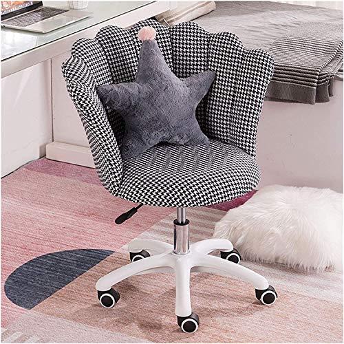 Silla pequeña para computadora, sillas giratorias, silla de oficina, escritorio y silla con ruedas, silla pequeña (color: B)