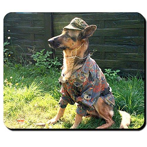Bundeswehr Hund Schäferhund Militär Uniform- Mauspad Mousepad #6118