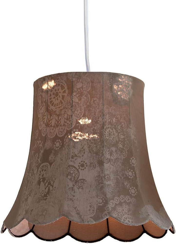 Karman life, lampada a sospensione Ø55 cm, con paralume in denim vintage SE651V