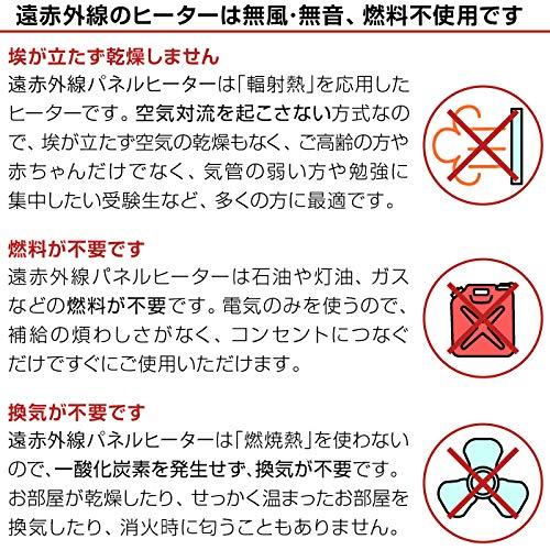ROSSOJapan(ロッソ・ジャパン)『遠赤外線パネルヒーター(EJ-CA032-2)』