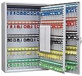 Arregui pl200 armario de seguridad para 60 llaves con ganchos regulables, gris, l