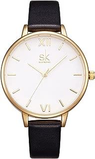 SK SHENGKE Women Watches Leather Band Luxury Quartz Watches Girls Ladies Wristwatch Relogio Feminino