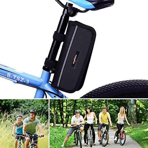 Smooth Rangers – Fahrrad Reparaturset in Tasche, Multitool & hochwertige Alu Mini Luftpumpe sowie Reifenheber, Selbstklebende Flicken inkl, Sorglos-Paket für Ihren nächsten Radtouren - 3