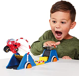 Tomy Ricky Zoom Speed & Stunt Playset featuring Ricky with 2 Rescue Accessories – Free-Wheeling, Free Standing Toy Bike an...