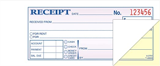 TOPS Money/Rent Receipt Book, 2-Part, Carbonless, 2.75 x 8.5 Inches, 100 Sets per Book (46800)