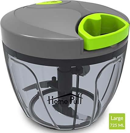 Home Puff HP-MED-CHPR Vegetable Chopper with 3 Stainless Steel Blade, Green